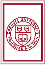 """Cornell University Logo Crochet Graph Afghan Pattern.  All done in single crochet, changing colors as you go along.  Drop one color, pull in the next.  Medium ability.  Size works up to be approx. 50 x 70"""".  Graph is 100 stitches wide by 140 stitches high.  Then you crochet 22 rows (or more) around the outside edge including a border, if you would like it larger.  Complete instructions are included, a full size graph, and a Helpful Hints page. DOWNLOAD WILL BE SENT TO YOU WITHIN YOUR ORDER CONFIRMATION.  Just click on """"Download Files"""" to print in full color. Enjoy!"""