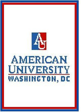 """American University Logo Crochet Graph Afghan Pattern.  All done in single crochet, changing colors as you go along.  Drop one color, pull in the next.  Medium ability.  Size works up to be approx. 50 x 70"""".  Graph is 100 stitches wide by 140 stitches high.  Then you crochet 22 rows (or more) around the outside edge including a border, if you would like it larger.  Complete instructions are included, a full size graph, and a Helpful Hints page. DOWNLOAD WILL BE SENT TO YOU WITHIN YOUR ORDER CONFIRMATION.  Just click on """"Download Files"""" to print in full color. Enjoy!"""