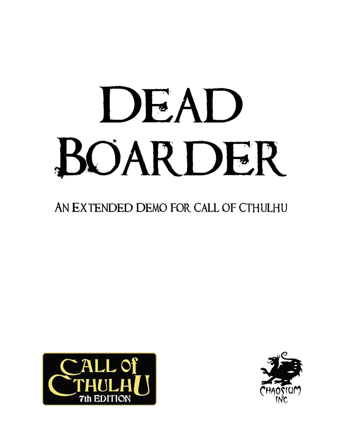 Call of Cthulhu - Free Adventures
