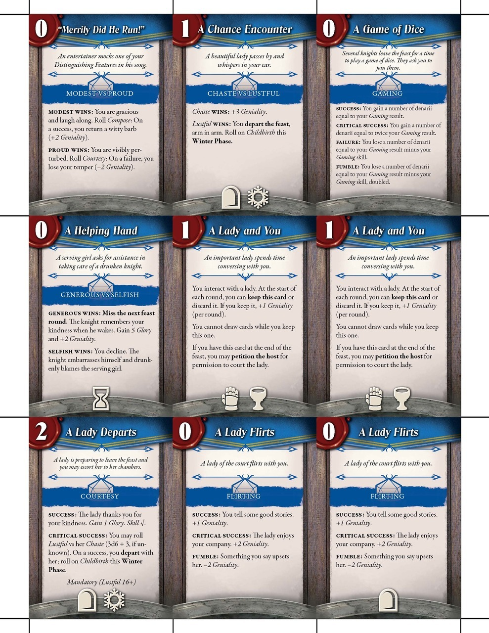 Book of Feasts: Feast Cards