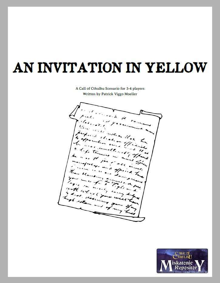 An Invitation in Yellow cover