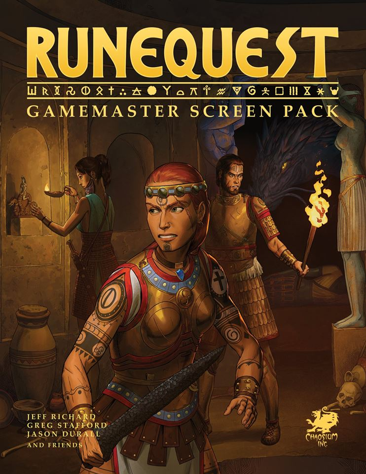 RuneQuest Gamemaster Screen Pack to be released in PDF on