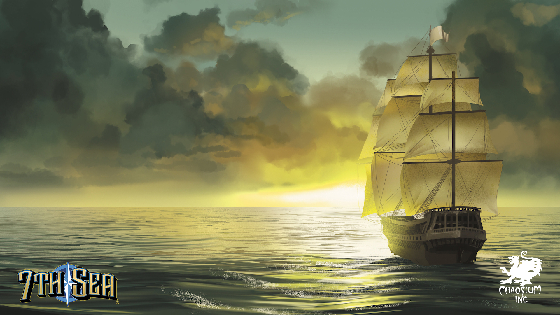 7th Sea Background - Sailing at Sunset