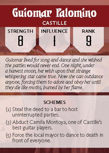 Deck of Villains - Guiomar Back