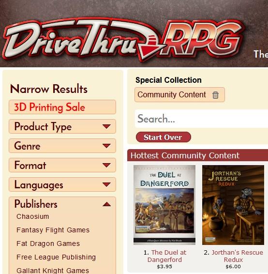 Top Selling Community Content - RQG