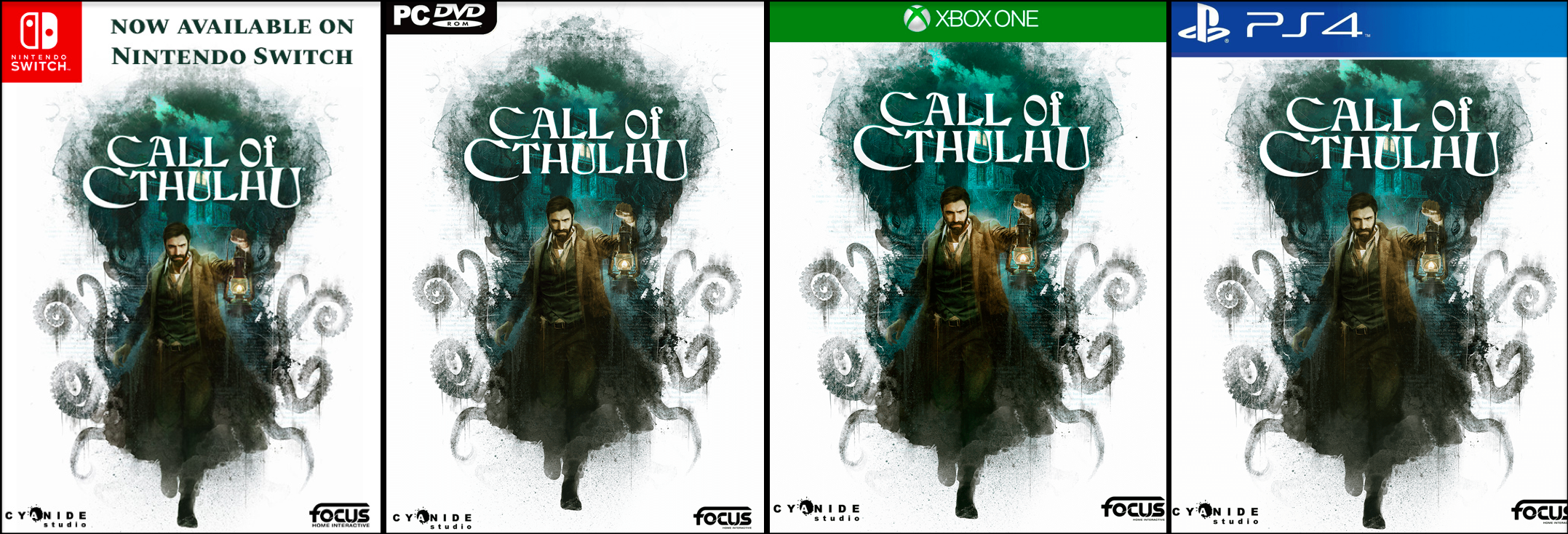 Call of Cthulhu the Official Video Game on the various game platforms