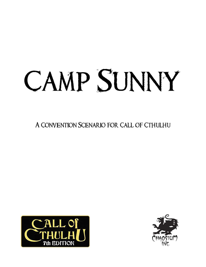 The Camp Sunny Cover