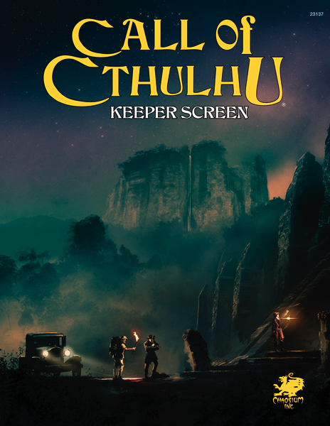 Call of Cthulhu Keeper Screen Pack Cover