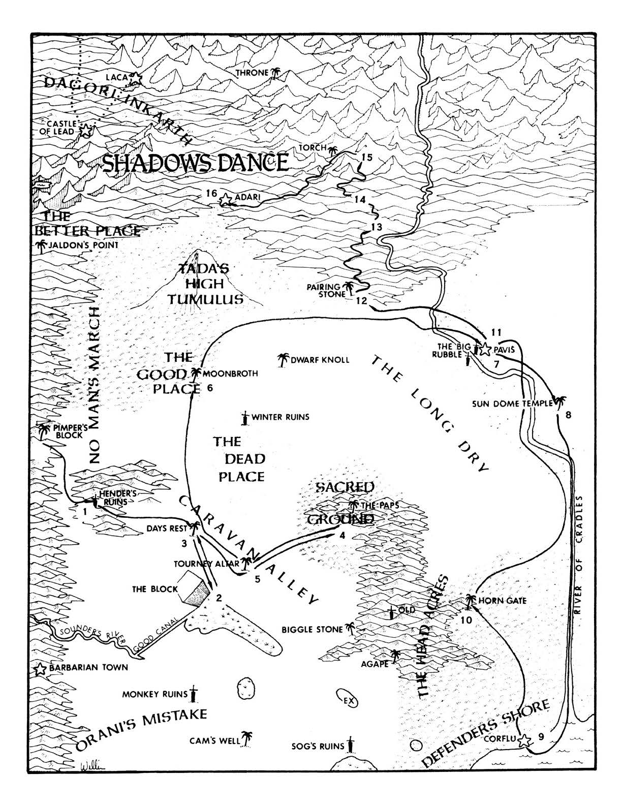 Map of Prax - by William Church
