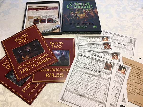 All the items from the Call of Cthulhu Starter Set