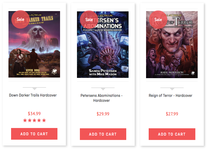 Cthulhu is Timeless 20% off Sale