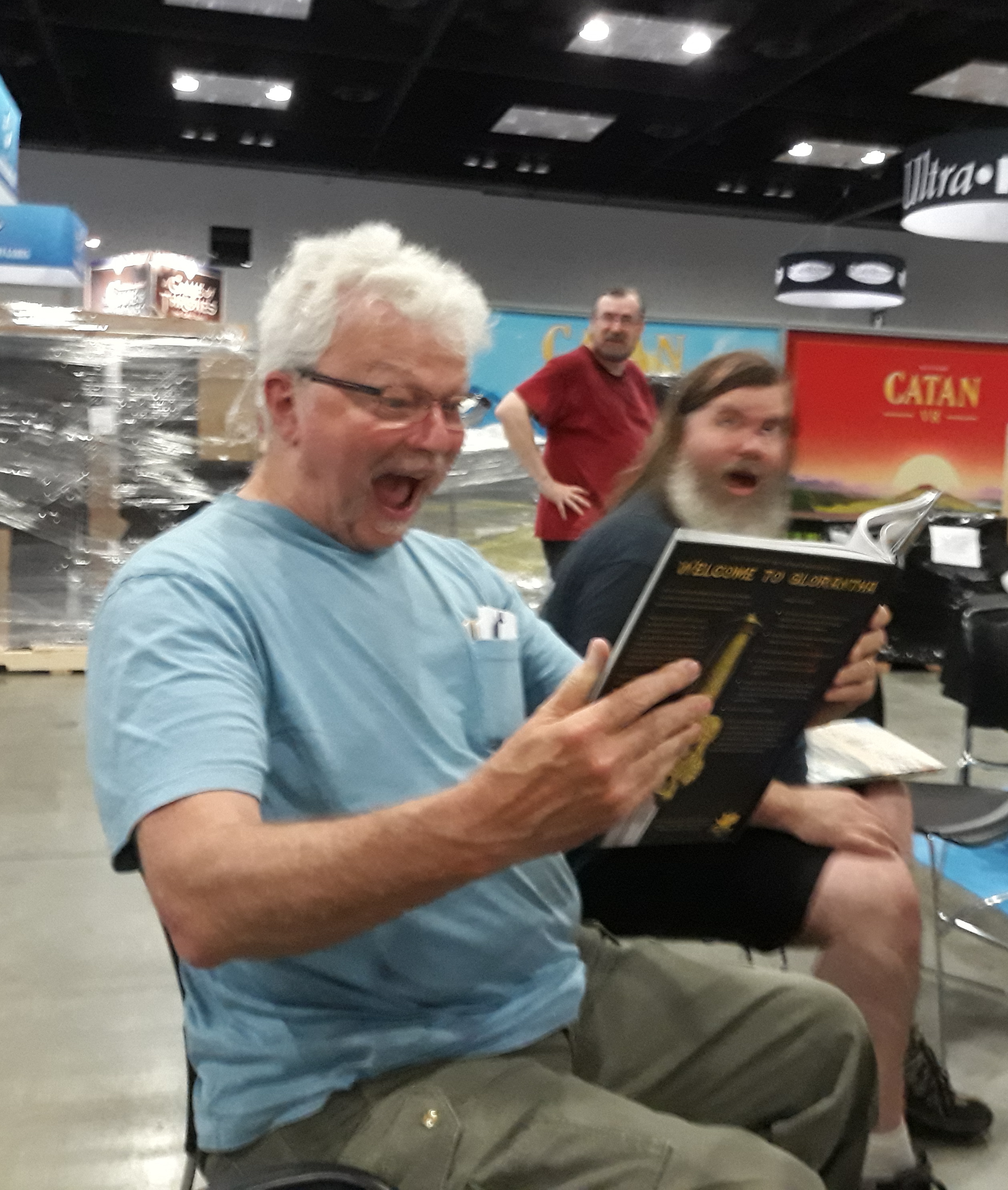 Greg Seeing RQG in Print for the First Time at Gen Con 2018