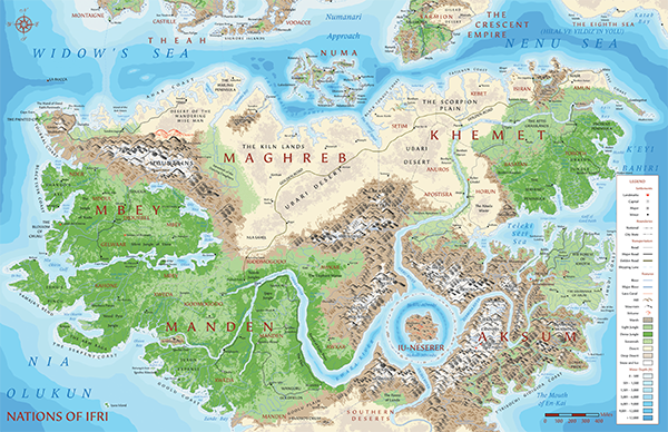 Map of the Lands of Gold and Fire