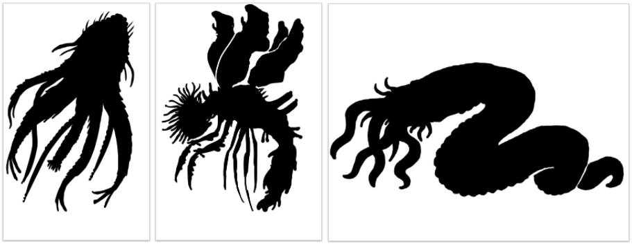 Star Vampire, Migo, Deep Dweller - Miskatonic Repository Images