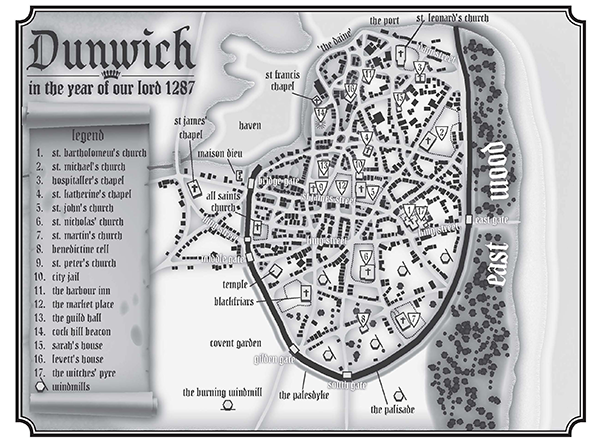 Map of Dunwich - 1287