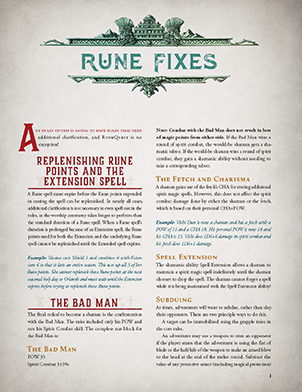RuneQuest Rune Fixes