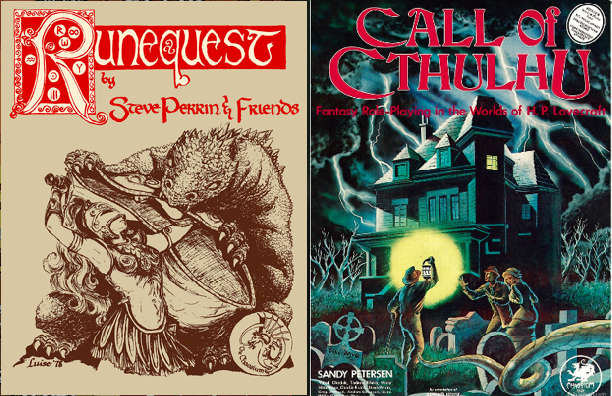 RuneQuest 1st Ed (1978)             Call of Cthulhu 1st Ed (1981)