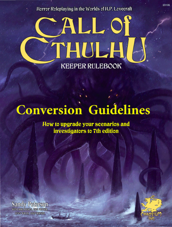 Call of Cthulhu 7th Ed Conversion Guidelines