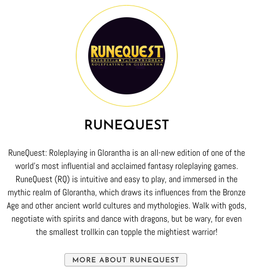 New gamemaster month - RuneQuest