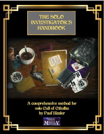 Solo Investigators Handbook - Miskatonic Repository