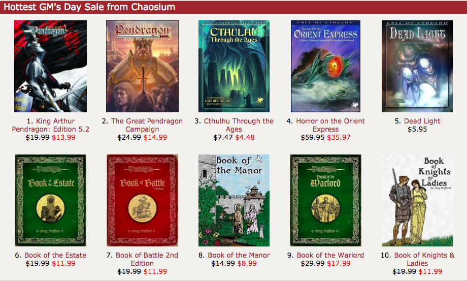 GM's Day Sale item chaosium
