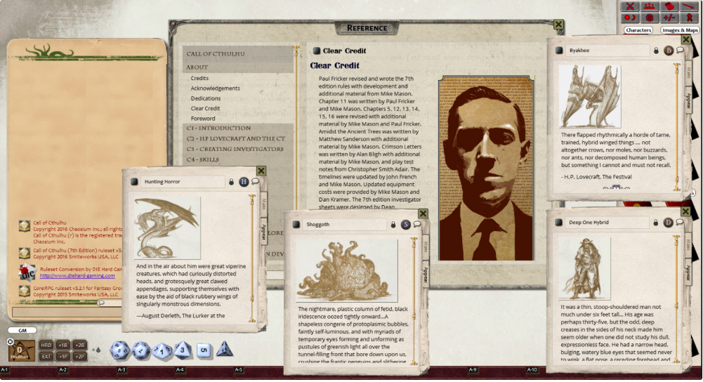 Call of Cthulhu on Fantasy Grounds VTT