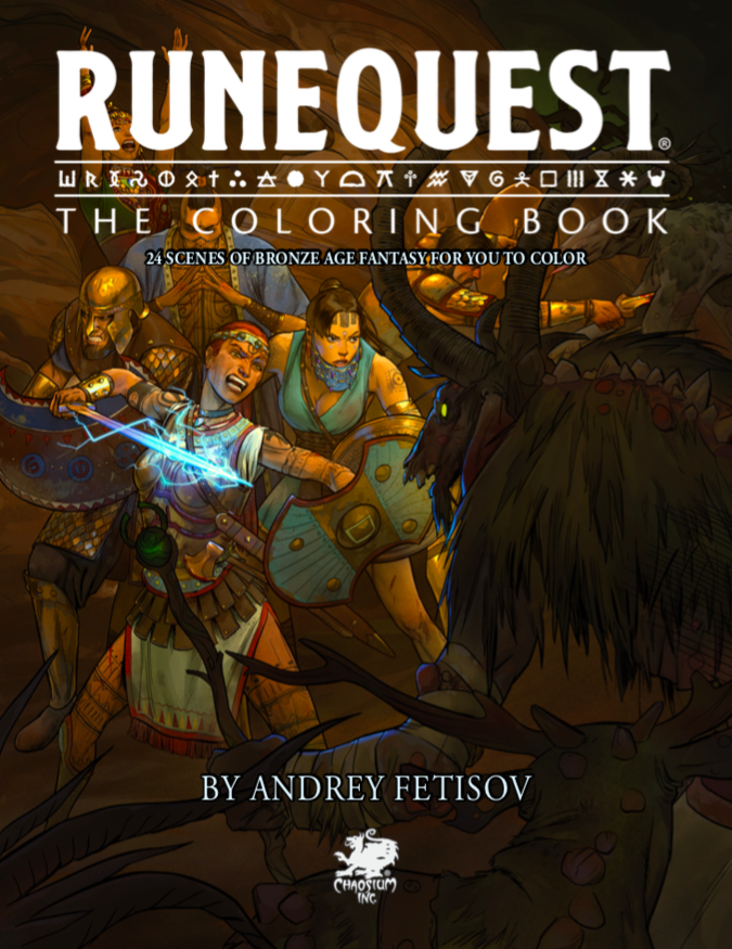 RuneQuest the Coloring Book