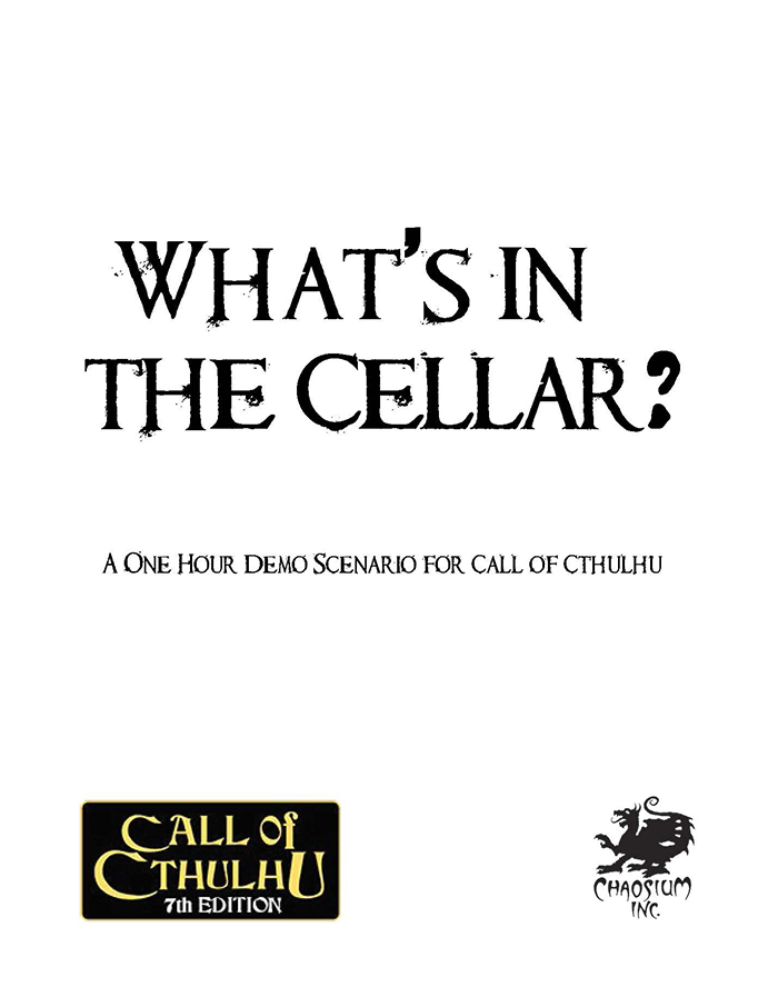 What's in the Cellar Cover