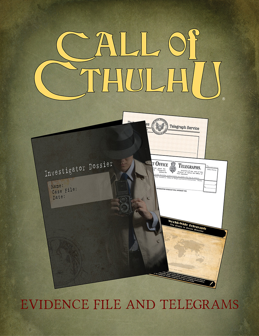 Call of Cthulhu 7th edition Evidence File & Telegrams PDF