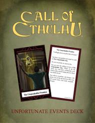 Unfortunate Events Call of Cthulhu Keeper Deck PDF