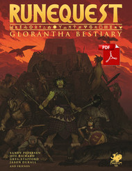 RuneQuest : Glorantha Bestiary - Front Cover - PDF