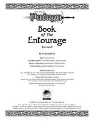 Book of the Entourage - Revised - Credits
