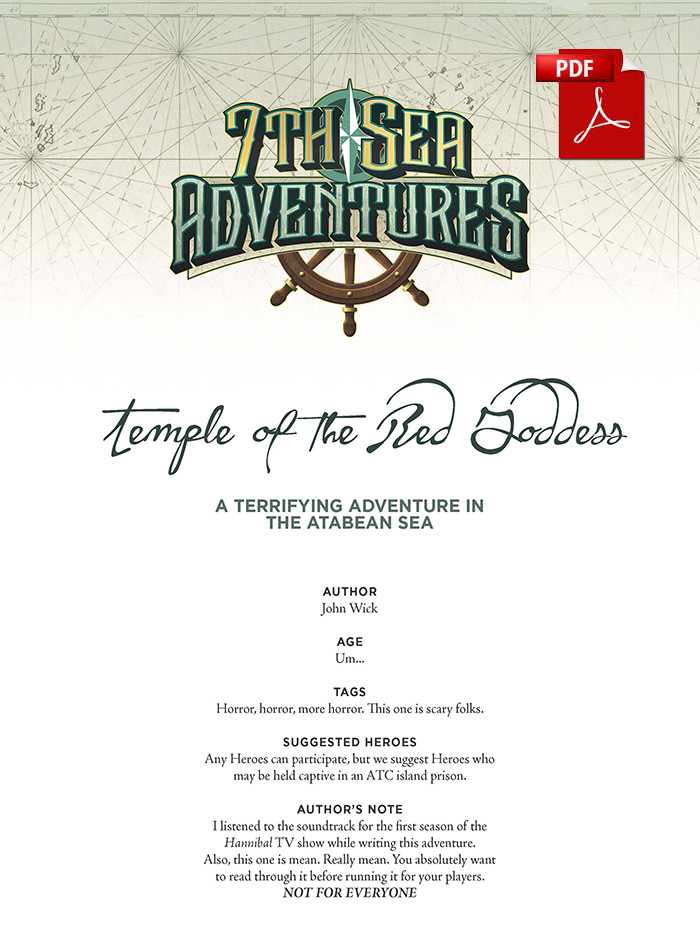 7th Sea Adventure - Temple of the Red Goddess - PDF