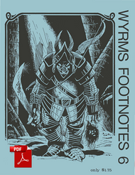 Wyrms Footnotes #6 - Front Cover