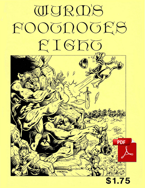 Wyrms Footnotes #8 - Front Cover