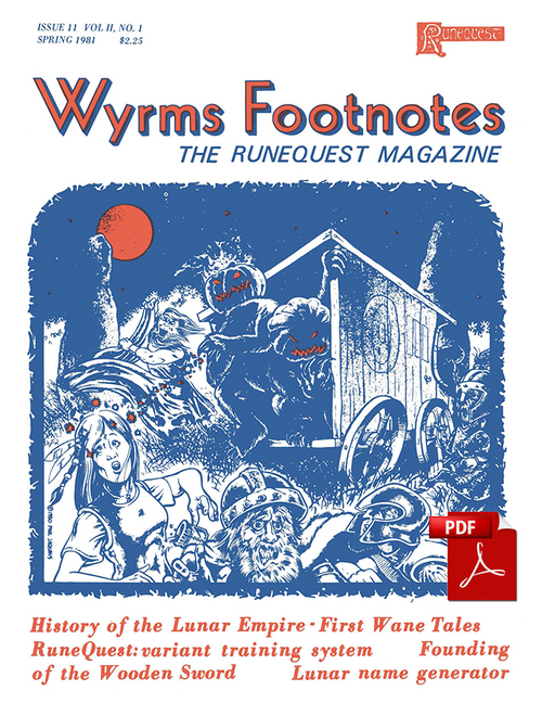 Wyrms Footnotes #11- Front Cover