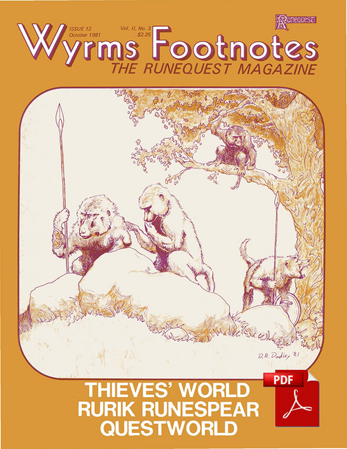 Wyrms Footnotes #13 - Front Cover