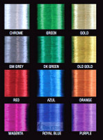 Royal Blue Metallic Thread size D, 100yds
