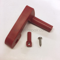 Scotty Red Lock Lever, newer single belt units - short style