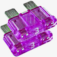 3 AMP FAST BLOW FUSE FOR ELECTRONICS - 2 pack