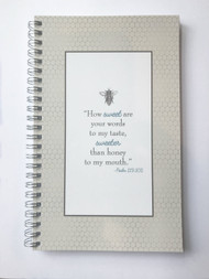 Prayer Journals are 8x5 wire bound journals with 50 lined pages for your prayers and thoughts each day.