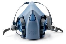 3M 7502 Medium 1/2 Mask Face Piece Silicone Respirator Case 12 Each