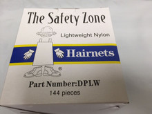 "Safetyzone DPLW 22-BK Black Hairnet 22"" Nylon Lightweight 144/Box $14.99 10+"