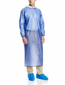 Ansell 56-910 L Size Large Coat Apron 8 Mil Blue  1 Ea From 17.99 12+