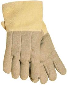"Tillman 970XL 14"" Yellow 22 Oz Kevlar® PBI® Double Wool Lined Heat Resistant Gloves Acrylic Coated Fiberglass Gauntlet 1 Pair"