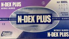 Showa Best 8005 Large N-Dex Plus Nitrile Gloves 8 Mil Blue Case/500 Ea (10x50) Ndex