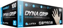 SAS 650-1002 M Medium Dyna Grip LATEX Exam Gloves Powderfree Case 1000 (10 x 100)