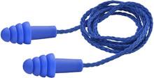 Elvex EP-411 Quattro Reusable Ear Plugs Corded Blue  NRR 27 Box 100 Pairs
