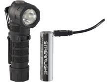 Streamlight 88835 Black Polytac 90X LED Fire Flashlight With Battery and USB Cord