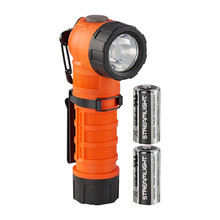 Streamlight 88834 Orange Polytac 90X LED Fire Flashlight New 500 Lumens With CR123A Batteries